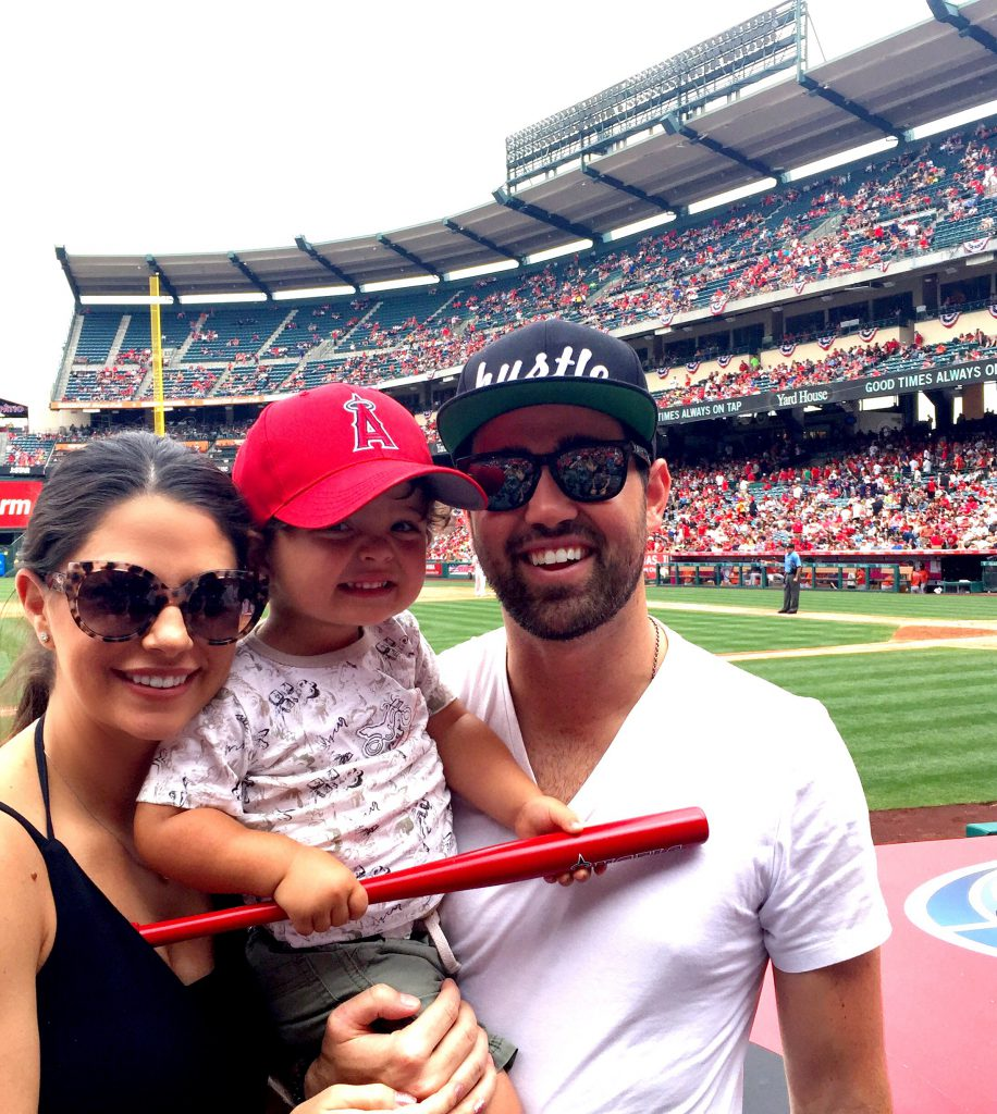 Family at the ballpark